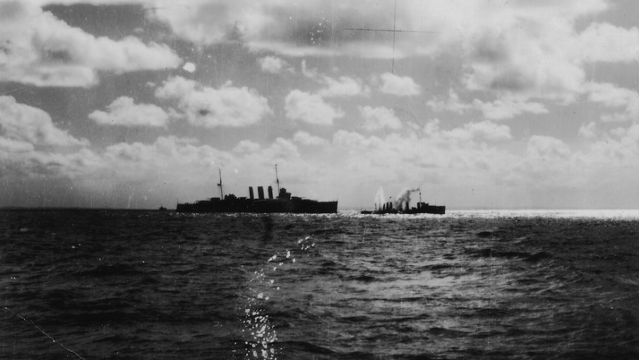 HMAS Torrens prior to being used as a Fleet Gunnery Practice Target off Sydney Heads, 24 November 1930