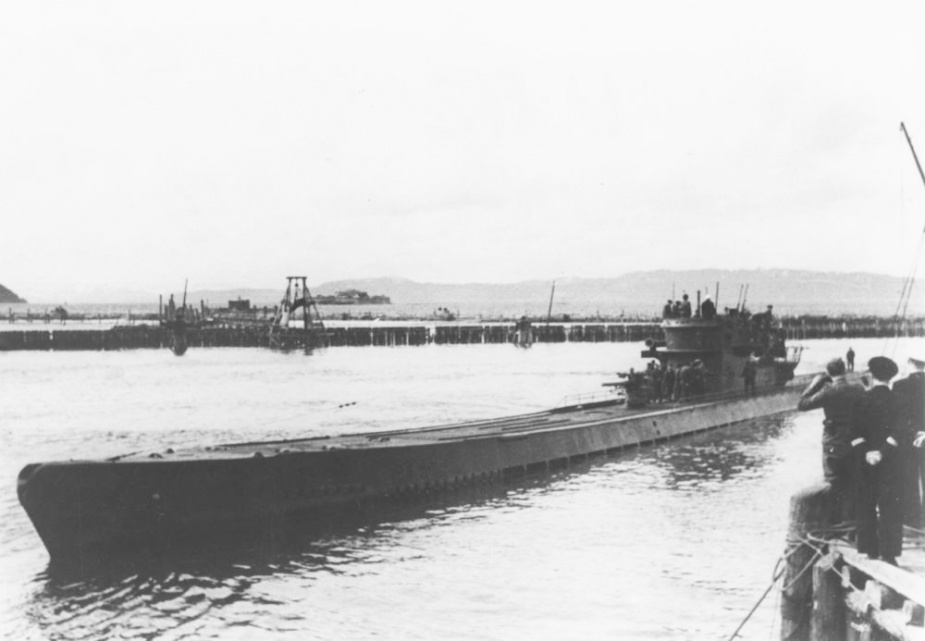 U-862 deploying from Trondheim, 28 May 1944. (U-Boot Archiv)