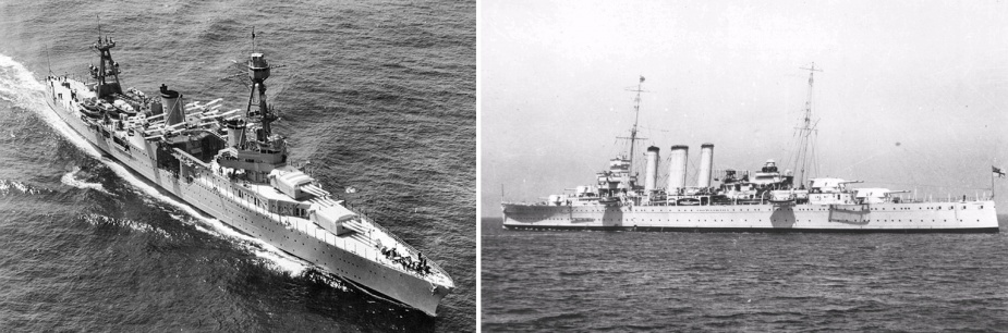 The cruisers USS Chicago and HMAS Canberra were two of the Japanese intended targets
