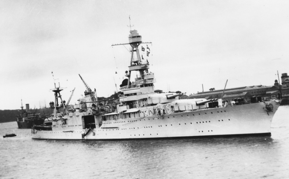 USS Houston in Sydney circa 1938