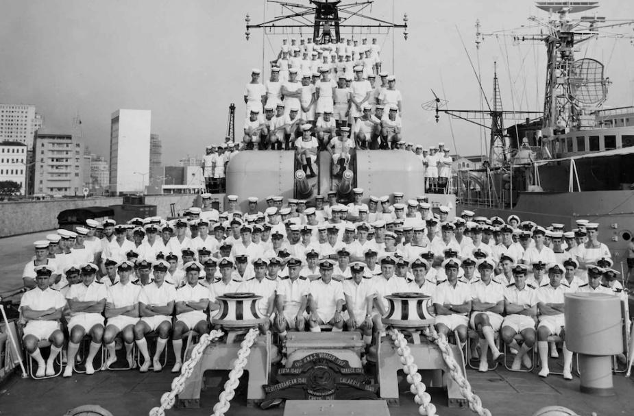 HMAS Voyager's ship's company circa 1962.
