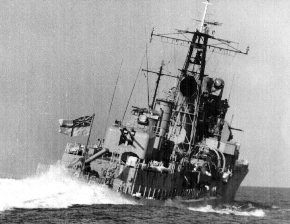 HMAS Voyager at sea during fleet exercises