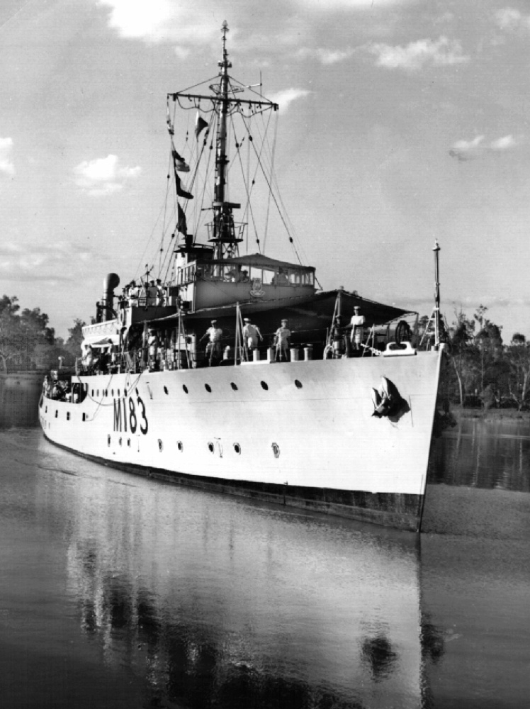 Wagga under the command of Lieutenant Commander James Hume (photo courtesy of Prof David Hume).