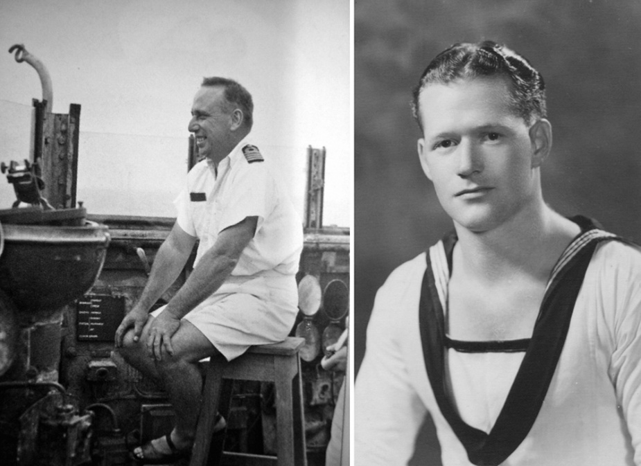 Left: Captain HML Waller, DSO & Bar, RAN who was lost in Perth during the Battle of the Sunda Strait.  Right: Able Seaman JE Ralston, Egypt 1940.