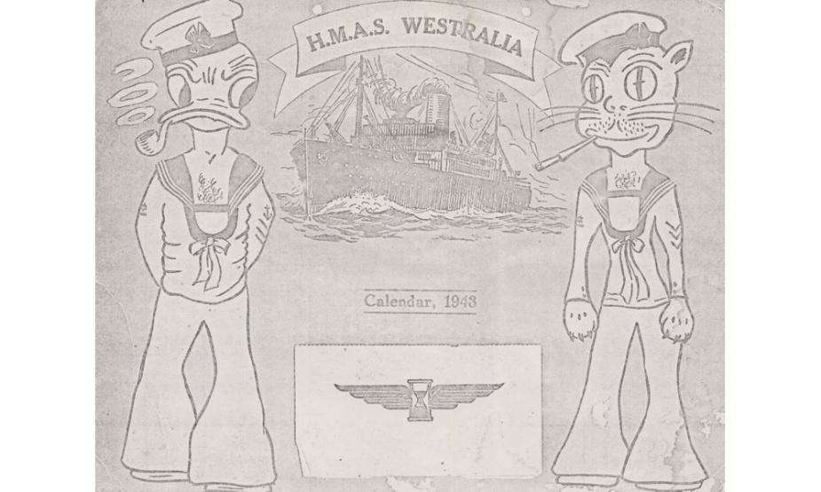 HMAS Westralia I calendar from 1943.