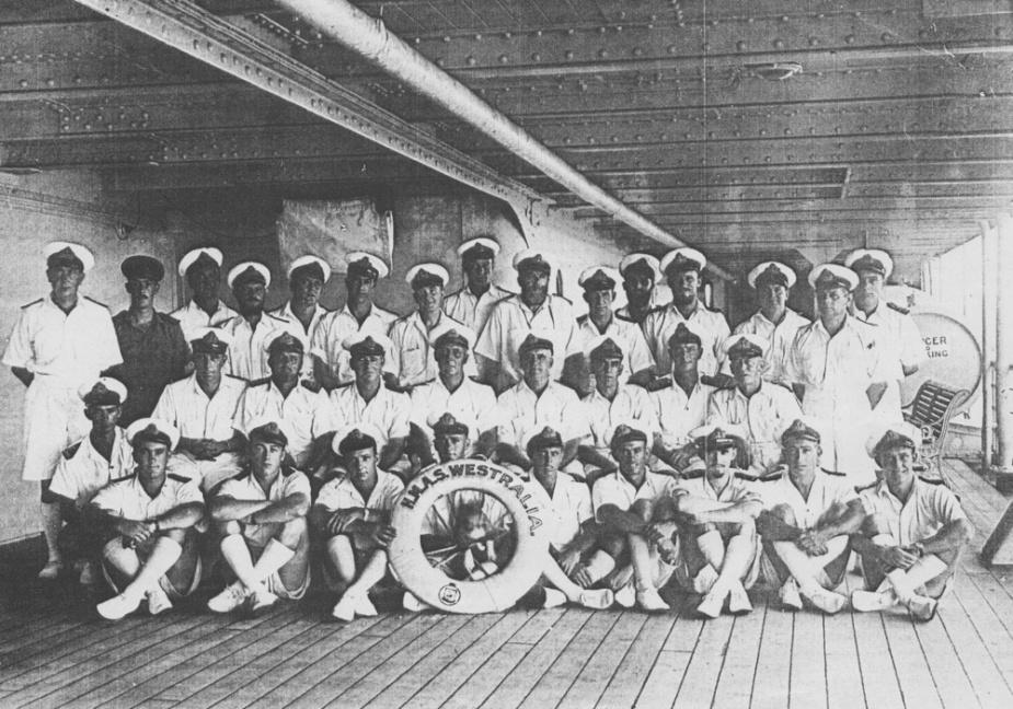 Ships company of HMAS Westralia I.