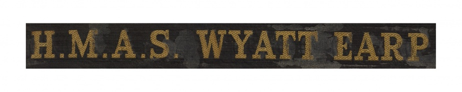 HMAS Wyatt Earp tally band.