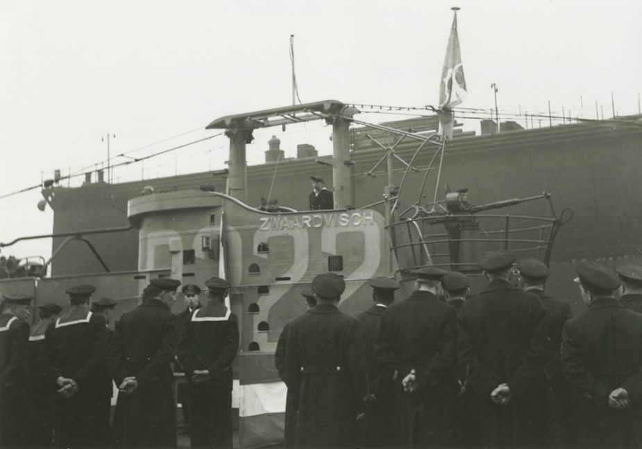 The Dutch submarine Zwaardvisch, which intercepted and sank U-168