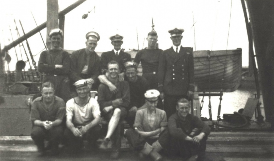 Part of the crew on board HMAS Beryl