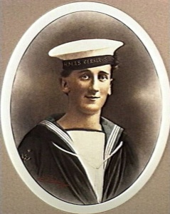 Signalman Percy Baker who was lost overboard from Countess of Hopetoun on 15 December 1915.
