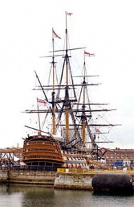 Nelson's flagship HMS Victory reproduced by kind permission of the Commanding Officer HMS Victory, Portsmouth, England.