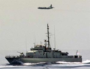 HMAS Cessnock on patrol