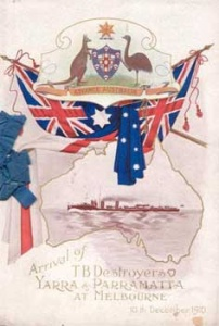 the arrival of ships named Yarra and Parramatta was a significant event (RAN)