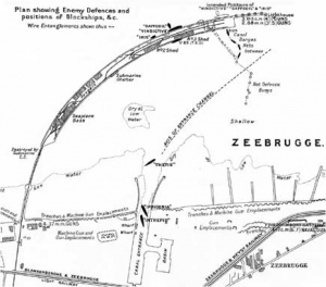 Map of Zeebrugge