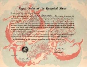 Atomic Test certificate