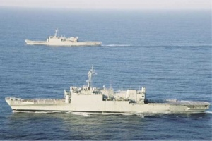 Today's amphibious ships, HMAS Kanimbla and HMAS Manoora. (RAN)