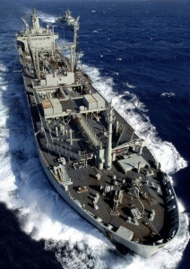 A bow view of HMAS Westralia.