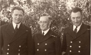 Commander Spurgeon with his father and brother.