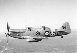 A Fairey Firefly two-seater trainer as flown by 851 Squadron.
