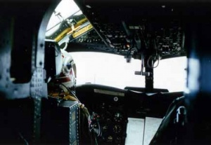 Inside a Tracker's cockpit.