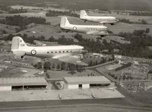 Dakotas in formation over NAS Nowra.