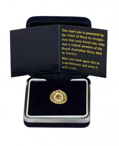 Navy Bereavement Pin with case.