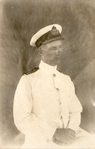 HMAS Pioneer's captain, Commander Thomas W. Biddlecombe