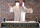 Chaplain preaching.