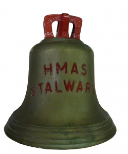 HMAS Stalwart's ship's bell is now on display in the Naval Heritage Collection