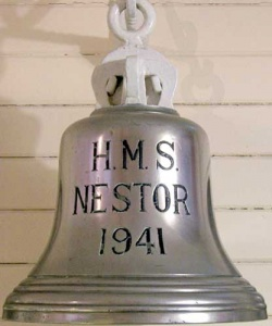 Nestor's commissioning bell now on display in the HMAS Cerberus museum.