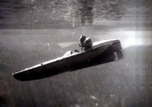 A Sleeping Beauty: a motorised submersible canoe similar to those intended to be used on the RIMAU raid.