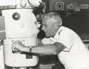 The periscope in the Submarine Command Team Trainer.