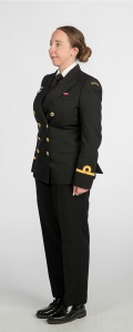 Less formal winter ceremonial uniform (W3 - Commissioned Officer)