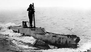British X-Craft on the surface