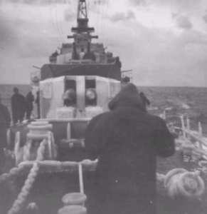 The cold winter months often saw ice form on the upper decks of ships operating in Korean waters.