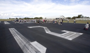 The 2012 'Tour the T' fun run. Shoalhaven residents have the rare opportunity to get out on Albatross' t-shaped flight deck.