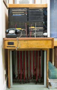 The original switchboard which was used from 1913-1984.