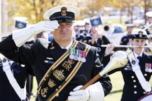 Bandmaster Chief Petty Officer Daniel Hobson, RAN Band Sydney.