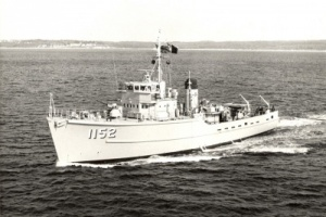 HMAS Teal at sea.