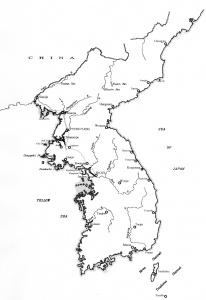 The Korean Peninsula.