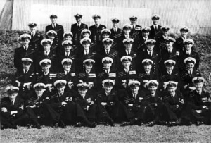 21st CAG shortly after their formation in England. LEUT Bob Barnett (5th from right, 2nd row from back) would be killed in a take-off accident in May 1951.