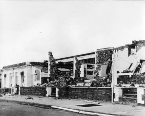 Naval Headquarters in Darwin in the aftermath of Cyclone Tracy.