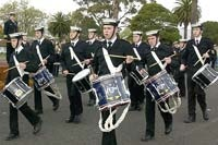 Australian Navy Cadets in a band.