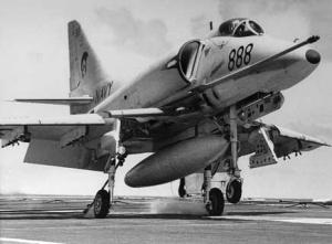 An A-4G Skyhawk 'boltering'.
