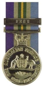 Australian Service Medal - Far East Strategic Reserve.