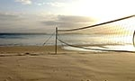 Beach Volleyball net on Captains Beach.