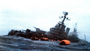 The sinking of the Argentinian Cruiser Belgrano.