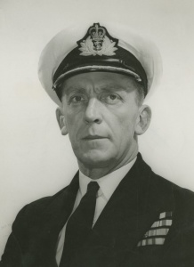 Captain GJB Crabb, DSC, RAN, Voyager's first Commanding Officer.