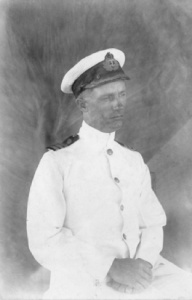 HMAS Pioneer's captain, Commander Thomas W Biddlecombe.