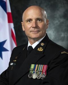 Bandmaster, RAN Band Western Australia, Chief Petty Officer Brett Douglas.